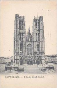 Belgium Brussels L'Eglise Sainte-Gudule 1936