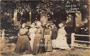 Old Vintage Shaker Post Card Lst of the  real photo Harvard, Massachusetts, M...