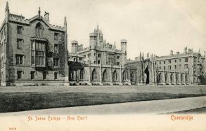 UK - England, Cambridge. St John's College, New Court