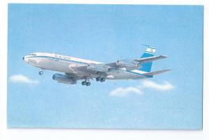 El Al Airlines Israel Boeing Jet Airplane Chrome Postcard