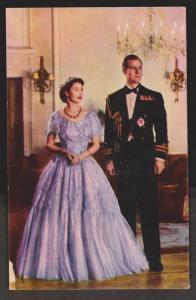 UK Queen Elizabeth II and Prince Philip Formal Dress