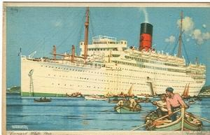 pc6551 postcard Cunard White Star Carinthian not postally used