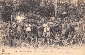 Congo Francais, Un nouveau Missionnaire a Betou et ses premiers neophytes
