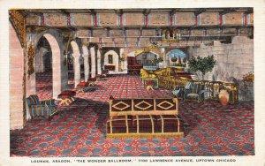 Aragon Lounge, the Wonder Ballroom, Chicago, Illinois, Early Postcard, Unused