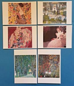 Beautiful Set of 6 NEW Gustav Klimt Symbolist Art Paintings Postcards Prints 72K
