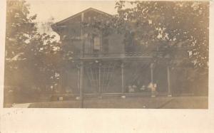 F24/ Keokuk Iowa Real Photo RPPC Postcard 1908 Home Porch