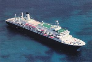Aerial View, Ocean Liner, Holland America's MS Noordam, 50-70's