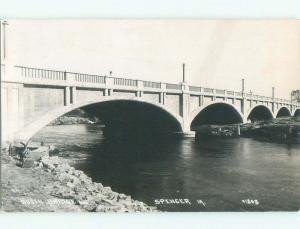 Pre-1945 rppc NICE VIEW Spencer - Near Arnolds Park & Spirit Lake Iowa IA i5745
