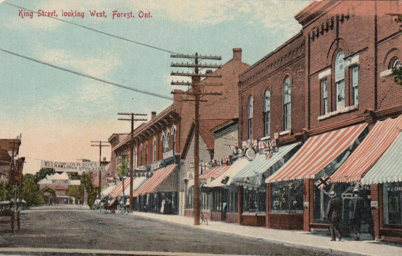 FOREST , Ontario , Canada , 1900-10s ; King Street , Looking West