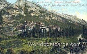 Banff Springs Hotel & Mt Rundle Banff, Alberta Canada Unused