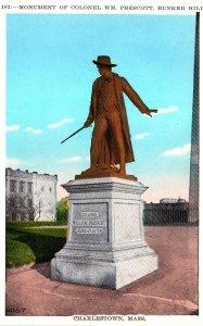Massachusetts Charlestown Colonel William Prescott Monument