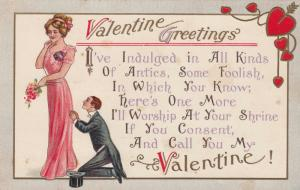 VALENTINE´S DAY ; Man on knees befor a woman , 00-10s