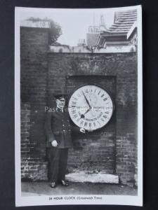 Shepherd Gate 24 Hour Clock - The Royal Greenwich Observatory - Old RP Postcard