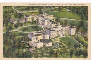 West Virginia White Sulphur Springs The Greenbrier Hotel Aerial View Curteich
