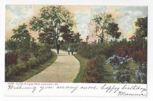 Lancaster PA Long Park View Souvenir Post Card Co Vintage UND Postcard