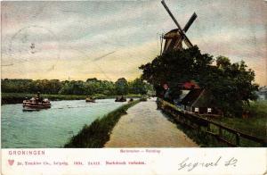 CPA GRONINGEN Barkmolen Reitdiep NETHERLANDS (604232)