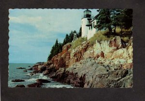 ME Bass Harbor Light House Lighthouse McKinley Maine Mt Desert Island Postcard