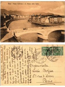 CPA PISA Ponte Solferino e S. Maria della Spina. ITALY (467434)
