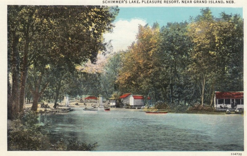 GRAND ISLAND, Nebraska, 1910s; Schimmer's Lake, Pleasure Resort