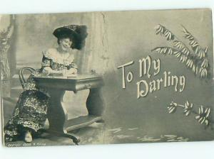 Divided-Back PRETTY WOMAN Risque Interest Postcard AA7902