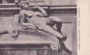 Italy Firenze Cappella Medicee L'Aurora Michelangelio