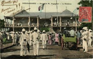 CPA DIEGO-SUAREZ Arrivee de M. Augagneur La Residence MADAGASCAR (709669)