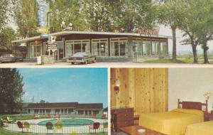3-Views, St. Lawrence Restaurant & Motels, Swimming Pool, Lonoraie, Quebec, C...