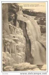 SAUT du DOUBS gele, Frozen waterfall, France, 00-10s