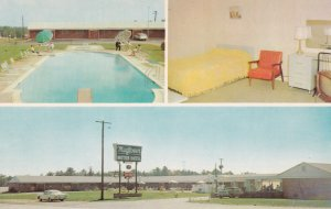 MARIETTA, Georgia, 1950-60s; 3-Views, Mayflower Motel, Swimming Pool, Classic...