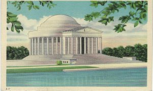 Vtg 1940's Thomas Jefferson Memorial, Washington D.C. Postcard