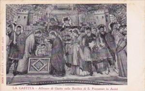 Italy Assisi Perugia La Castita Affresco Di Giotto Nella Di Saint Francesco I...