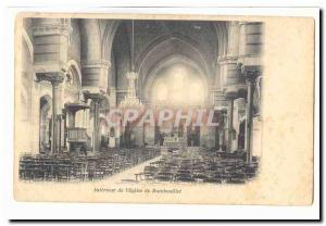 Old Postcard Interior of & # 39eglise Rambouillet