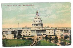 Washington DC Capitol Front View Vintage 1911 Postcard