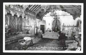 Music Room Scottys Castle Death Valley CA Real Photo PC Used c1952