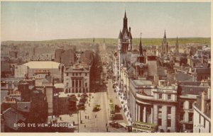 ABERDEEN , Scotland , 1920-30s ; Bird's Eye View