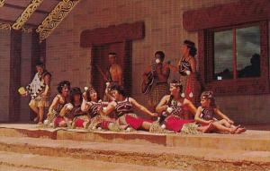 Hawaii Honolulu Maori Entrances Doing A Poi Ball Dance In The Maori Village O...