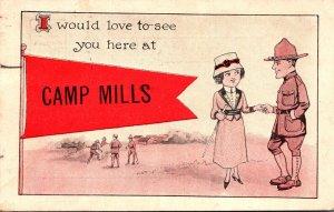 New York Camp Mills 1918 Pennant Series
