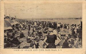11915  NY Staten Island 1915 View of South Beach and Pier