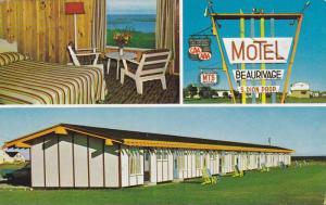 3-Views, Hotel- Motel Beaurivage, Ste-Anne-des-Monts, Cte Gaspe, Quebec, Cana...