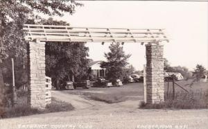 Entrance Country Club Cresco Iowa 1940Real Photo