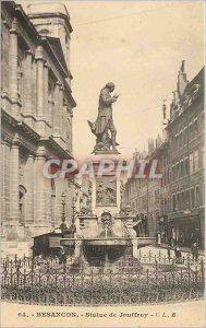 Old Postcard Besancon Statue Jouffroy