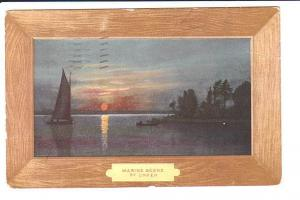 Unker, Marine Scene, Fancy Frame