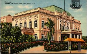 San Juan Puerto Rico Casino De Puerto Rico Tichnor USO Postcard