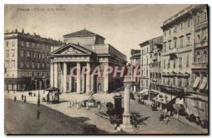 Postcard Old Trieste Piazza Della Borso