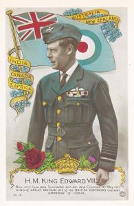 King Edward VIII Blue Army Uniform New Zealand Tampex 1986 Exhibition Postcard