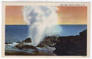 Island of Oahu, T.H., Blow Hole