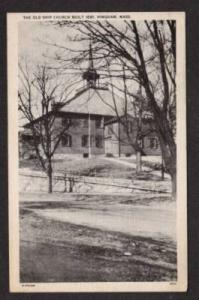 MA Old Ship Church Built 1681 HINGHAM MASS Postcard PC Massachusetts