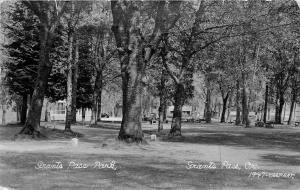Grants Pass Park (OR) Real Photo Postcard. 1947