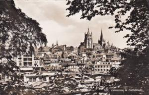 Switzerland Lausanne la Cathedrale 1958 Photo