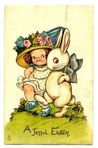Greeting - Easter. Artist: Wiederseim. Tuck Series 1002  (damaged)